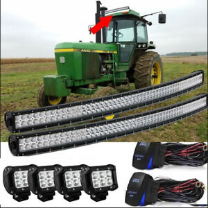 2 54 Inch Upper Roof Led Light Bar For John Deere Ar60250 2955 4430 4440 4455