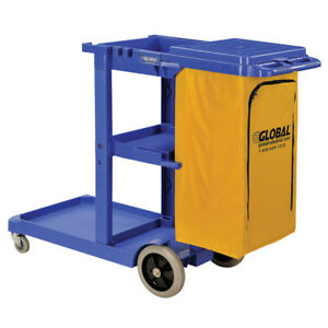 Janitorial Equipment Cart Commercial Cleaning Supplies 25 Gallon Bag And Lid