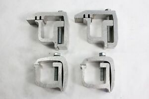 Four 4 Heavy Duty Aluminum Pickup Truck Topper Cap Camper Shell Mounting Clamps