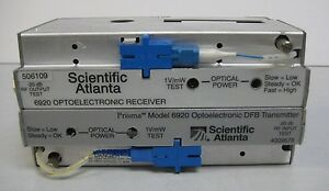Scientific Atlanta Fiber Optic Dfb Transmitter receiver Pair For 6920 Node