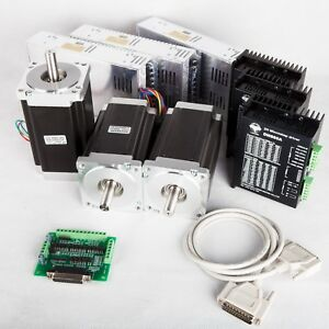 free Ship To Us 3axis Nema34 Stepper Motor 1600oz in driver Cnc Router