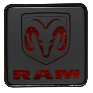 For Dodge Logo 2 Class Iii Rear Towing Trailer Brake Light Hitch Receiver Cover
