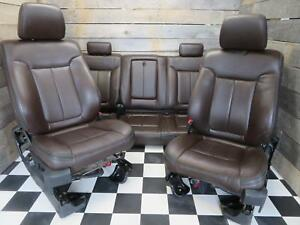2011 2014 Ford F150 Platinum Seats fronts And Rear Brown Leather Heated cooled