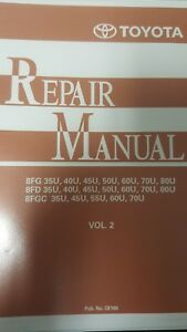 Toyota Forklift 8 Series Repair Manual Vol 2