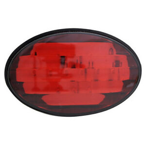 Universal 2 Class Iii Rear Oval Towing Trailer Brake Light Hitch Receiver Cover