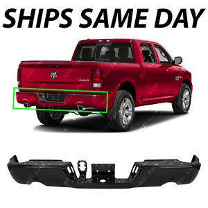 New Primered Steel Rear Bumper Face Bar Shell For 2009 2018 Dodge Ram 1500 Truck