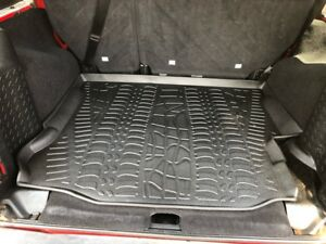 All Weather Cargo Liner Floor Mat Black For Jeep Wrangler Unlimited 15 18