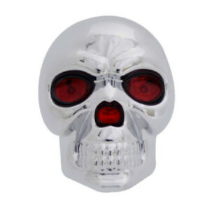Universal 1 1 4 2 Skull Towing Trailer Led Light Brake Hitch Receiver Cover