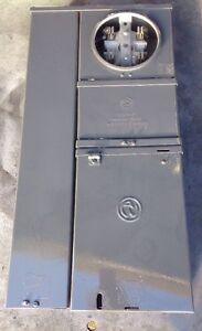 Electrical Panel Ge 100a 1p 4 Jaw Meter Main Enclosure Box Underground Entry