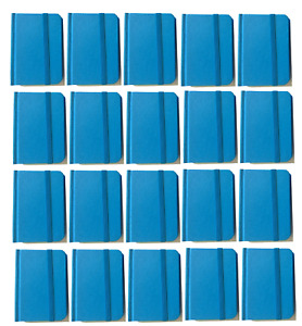 Bulk Lot 20 Small Blue Hardcover Pocket Notebook Journals 96 Pages 4 5x3 Ruled