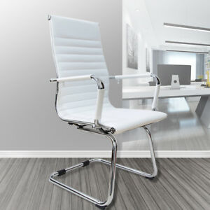 Ergonomic Office Computer Chair High Back Leather Desk Seat Bedroom Home White