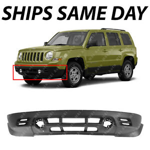 New Textured Front Lower Bumper Cover For 2011 2017 Jeep Patriot W Out Tow Hooks
