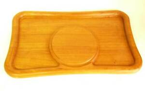 Vintage Danish Modern Teak Cheese Tray Wood Denmark For Mid Century Board
