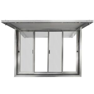 New Concession Stand Trailer Serving Window W Awning 60 X 36 Food Trucks