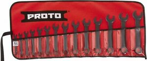 Proto 14 Piece 6 To 19mm 12 Point Extra Short Combination Wrench Set Metric