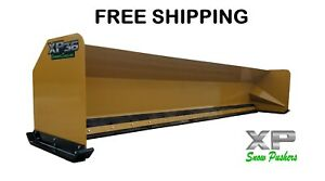 16 Snow Pusher Boxes Backhoe Loader Snow Plow Express Steel Free Shipping rtr