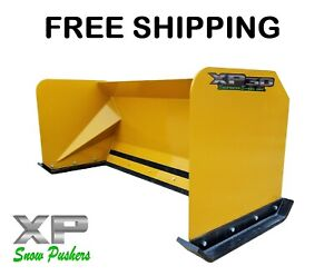 6 Snow Pusher Boxes Skid Steer Backhoe Loader Snow Plow Bobcat Free Shipping