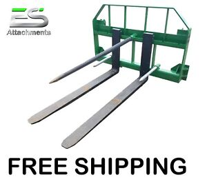 Free Shipping Es John Deere Combo 49 Spear 48 Pallet Forks Jd Quick Attach
