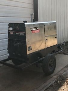 Lincoln Vantage 500 Trailer Mounted Portable Welder Single And 3 Phase