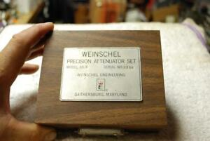 Weinschel As 6 Precision Attenuator Set 3 6 10 And 20 Db Attenuators Dc 18ghz