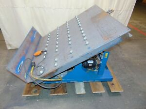 52 Electric Hydraulic Tilt Table Gaylord Pallet Box Tip Platform
