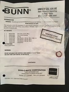 Bunn Replacement Parts For Solenoid Valve Universal See Details And Instructions