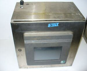 Hoffman Stainless Steel Control Panel Enclosure W Pcs Touch Screen Ls7100 25 8