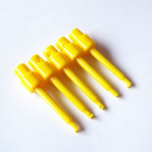 10 Pcs Test Clip Grabber 57mm Round Smd Ic Hook Probe For Multimeter Arduino P53