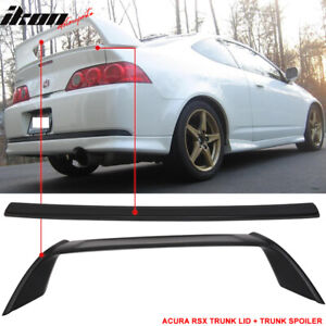 Fits 02 06 Acura Rsx Dc5 Mid Trunk Lid Type R Tr Style Trunk Spoiler Abs
