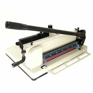 New Heavy Duty Guillotine Paper Cutter 17 Commercial Metal Base A3 a4 Trimmer