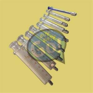 Reusable Glass Injector Syringe Glass Syringe Luer Lock Head From 1ml To 100ml