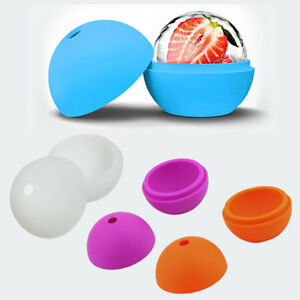 2.5 inch Silicone Ice Ball Maker Mold Sphere Large Tray Whiskey DIY Mould#G
