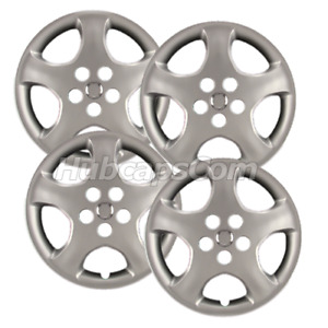 Set Of 4 15 Silver Hubcaps For Toyota Corolla 2005 2008 5 Spoke Heavy Duty