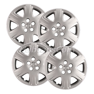 Set Of 4 15 Silver Hubcaps Fit Toyota Corolla 2005 2008 6 Spoke Heavy Duty