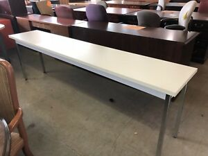 96 wx18 d Training Table By Hon Office Furniture Gray Laminate Top