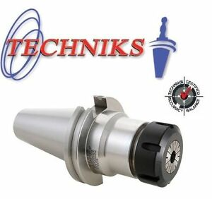 Techniks Er16 Ct40 Cnc Collet Holder Cat40 2 76 Length 22225