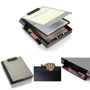 Officemate Recycled Double Storage Clipboard Case 2compartment Paper Hold Office