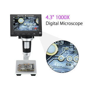 Us Adjustable 1080p Hd 1000x Zoom Digital Microscope Endoscope Magnifier Record