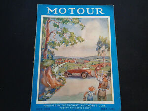 July 1933 Motour Magazine Ford Chevy Buick Pontiac Oldsmobile Plymouth