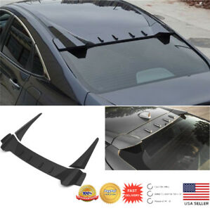 Rear Window Roof Spoiler For 10th Honda Civic 2016 2017 2018 Sedan R Style Visor