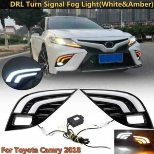 Car Led Drl Daytime Running Lamp W Turn Signal Light For Toyota Camry 2018 Xse