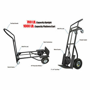 Olympia Tools 4wheels 2in1 Hand Truck dolly 83 294 917
