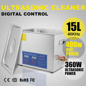 15l 15 L Ultrasonic Cleaner Cleaning W Heater Dental Medical Jewelry Clean Pro