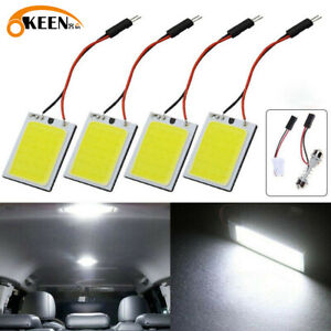 4pcs 24 Smd Cob Led T10 4w Light Car Interior Panel Lights Dome Lamp Bulb White