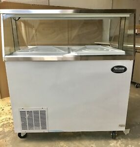 Ice Cream Freezer Dipping Cabinet Show Case 8 Flavor 48 New 4 Foot
