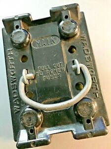 Wadsworth 30 Amp Main Fuse Holder Pull Out Used