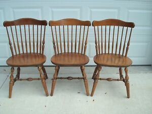 S Bent Bros Colonial Windsor Fan Back Maple Chairs 3
