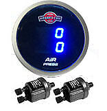 Air Gauge Dual 200psi Digital Display Air Ride Suspension System Part Tinted Led
