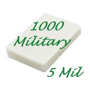 1000 Military Card Laminating Pouches Sheets 2 5 8 X 3 7 8 5 Mil Scotch Quality