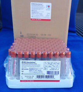 Case Of 1000 Bd Vacutainer Serum Blood Collection Tubes Model 367820